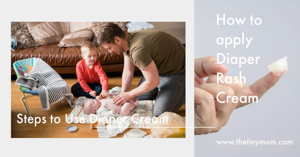 how to apply diaper rash cream