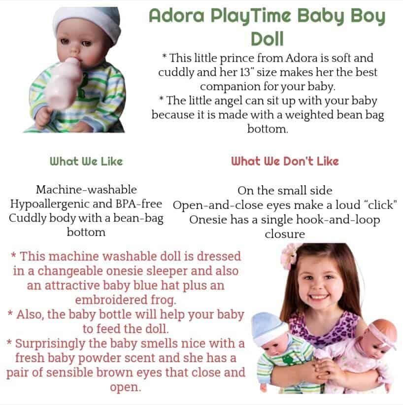 "Adora Playtime ""Little Prince"" 13 inch Baby Boy Doll"